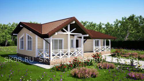 Проект одноэтажного дома 100 м2