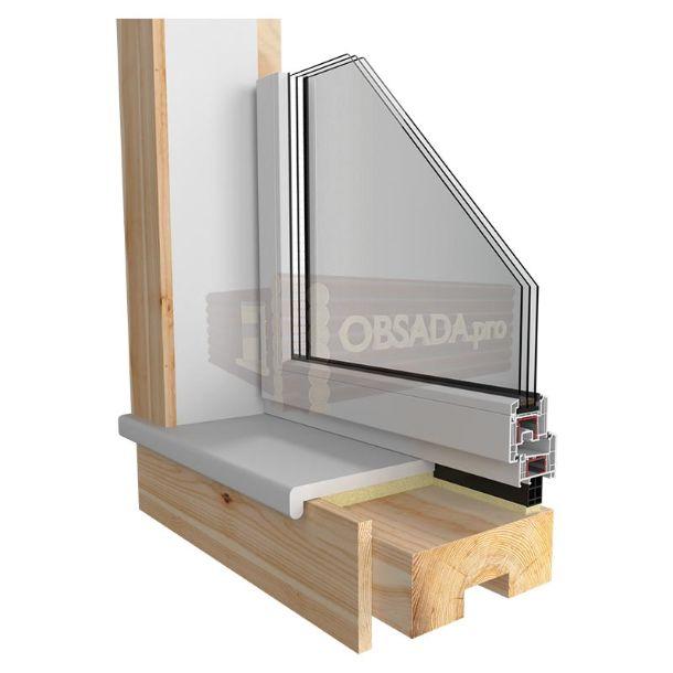 Обсада (окосячка) для пластиковых или деревянных окон или дверей в деревянном доме, бане | +7 (499) 938 92 29