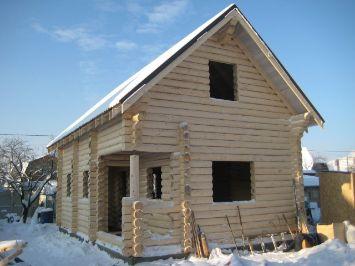 дом из бревна | srub-zima.ru +7 (499) 938 92 32