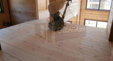 Шлифовка пола и половой доски в деревянных домах