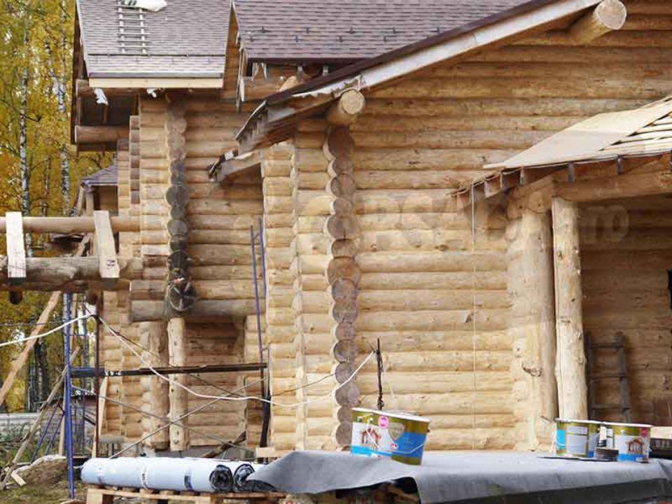 Шлифовка дома из бревна ручной рубки от компании obsada.pro. Опыт с 1998 года. Выезжаем в любой регион.