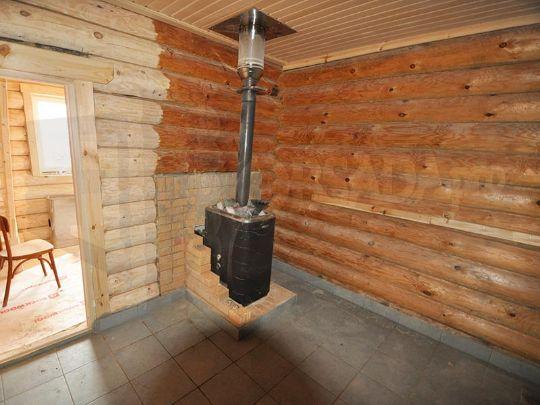 Шлифовка баня из бревна