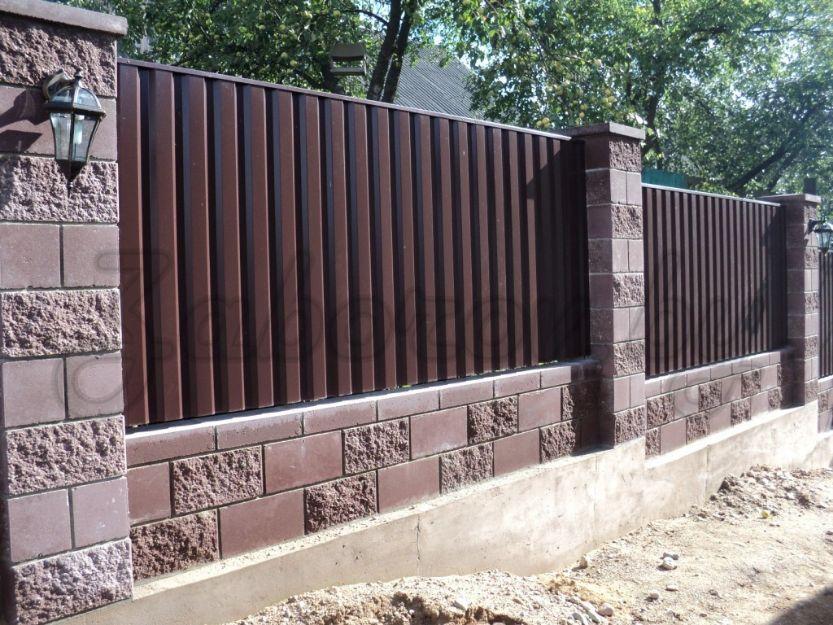 комбинированный забор в Михайловске
