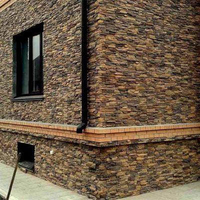 Отделка фасада искусственным или натуральным камнем
