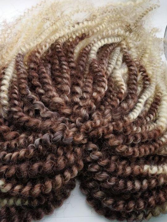 АФРОКудри коричневый в Блонд омбре