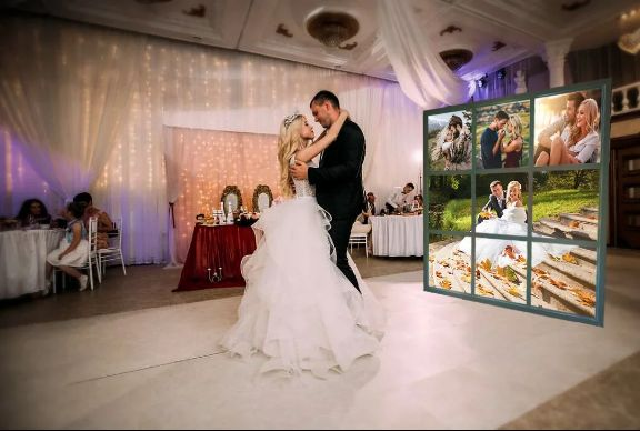 Лайт Волл и Пресс Волл на свадьбу в СПб