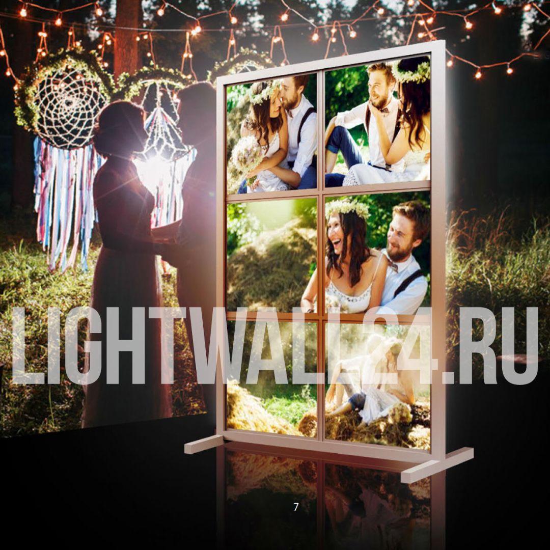 Заказать лайт волл оформление на свадьбу light wall