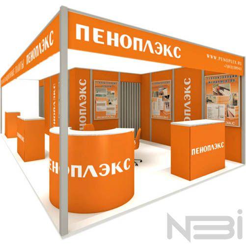 Создание и разработка выставочного стенда для бренда Пеноплекс. Рекламное агентство НБИ.