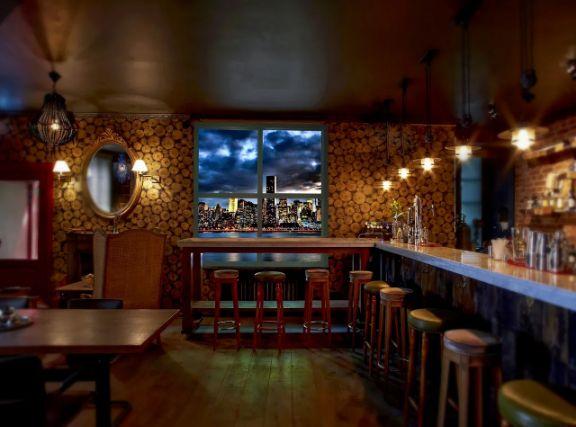 Оформление кафе, ресторана. Лайт волл - недорогое решение для HoReCa с подсветкой и заменой изображений под мероприятие.