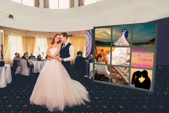 Пресс Волл на свадьбу и яркий Лайт Волл