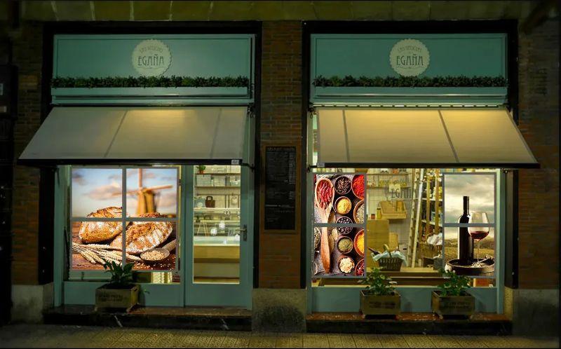 Лайт Волл, оформление витрины магазина, световая вывеска без согласования.