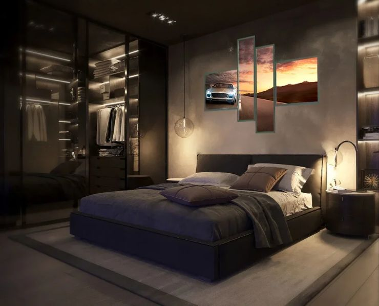 Дизайн интерьера, креативный подарок для дома. Интерьер с подсветкой, картина. Лайт Волл.