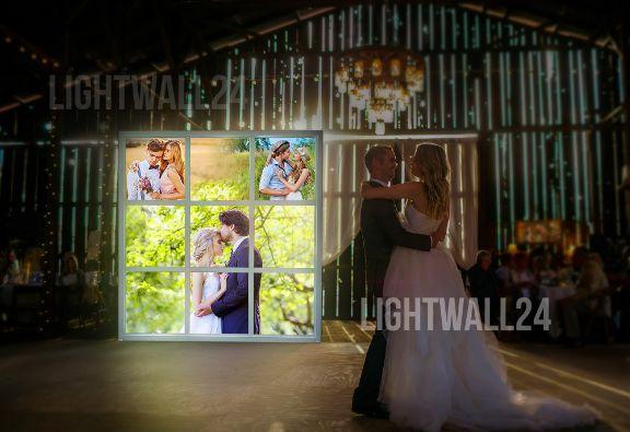 Лайт Волл, светящийся Пресс волл на свадьбу, вариант 4