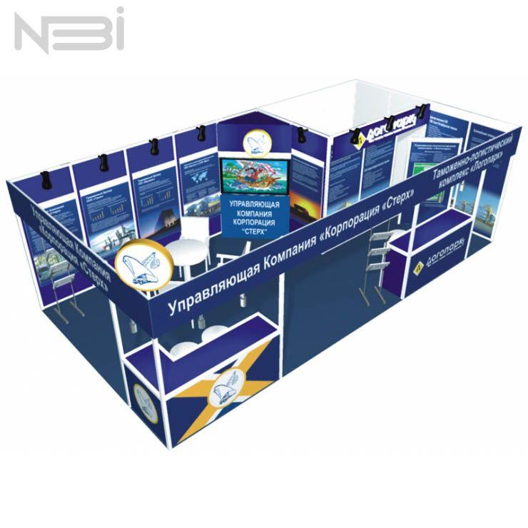 Разработка выставочного стенда для компании Логопарк. Брендинговое агентство НБИ. Lightwall24