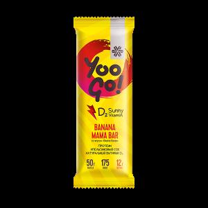 картинка Батончик Banana Mama (вишня-банан) - Yoo Gо