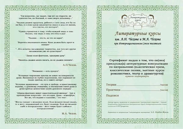 Внутренний разворот сертификата