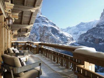Лыжи в горах Швейцарии