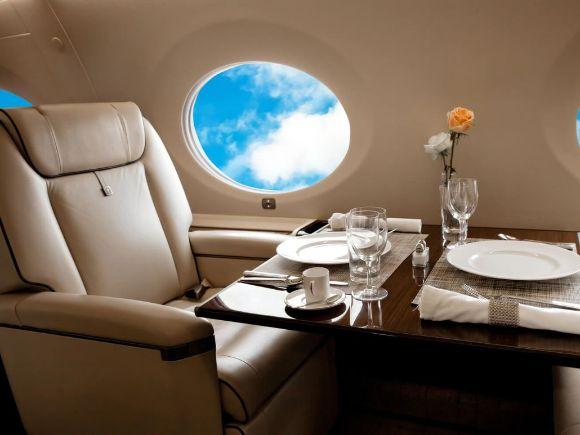 Салон частного самолета
