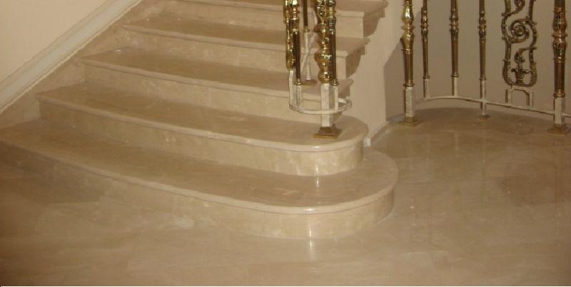 Изготовление и монтаж ступеней из мрамора