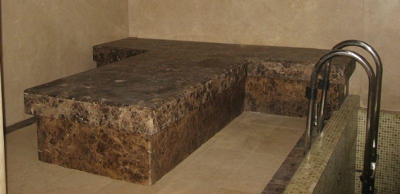 Облицовка бассейнов и хамамов мрамором