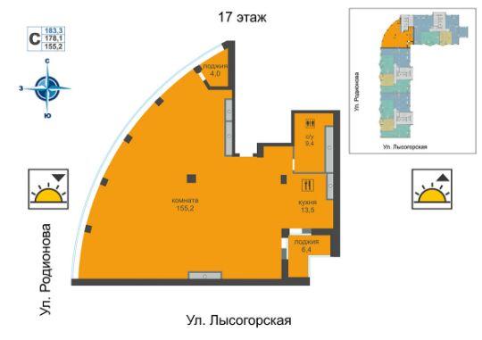 Пентхаус ЖК Монолит Нижний Новгород