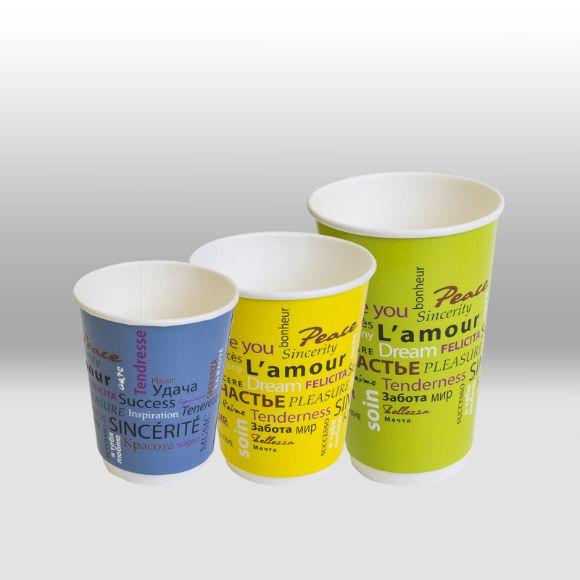 Двухслойные бумажные стаканы ThermoCup для горячих напитков Fiesta