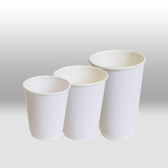Двухслойные бумажные стаканы для горячих напитков