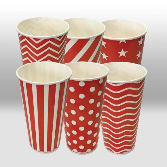 Однослойные бумажные стаканы для холодных напитков Lollipop