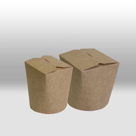Бумажный чайна-бокс Крафт