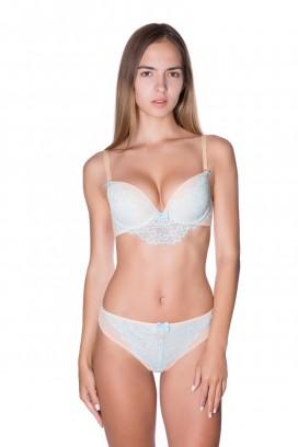 картинка Трусы женские, бразильяна, средняя посадка, бесшовные сзади трусы, ROSE&PETAL LINGERIE, CELESTE от магазина Одежда+