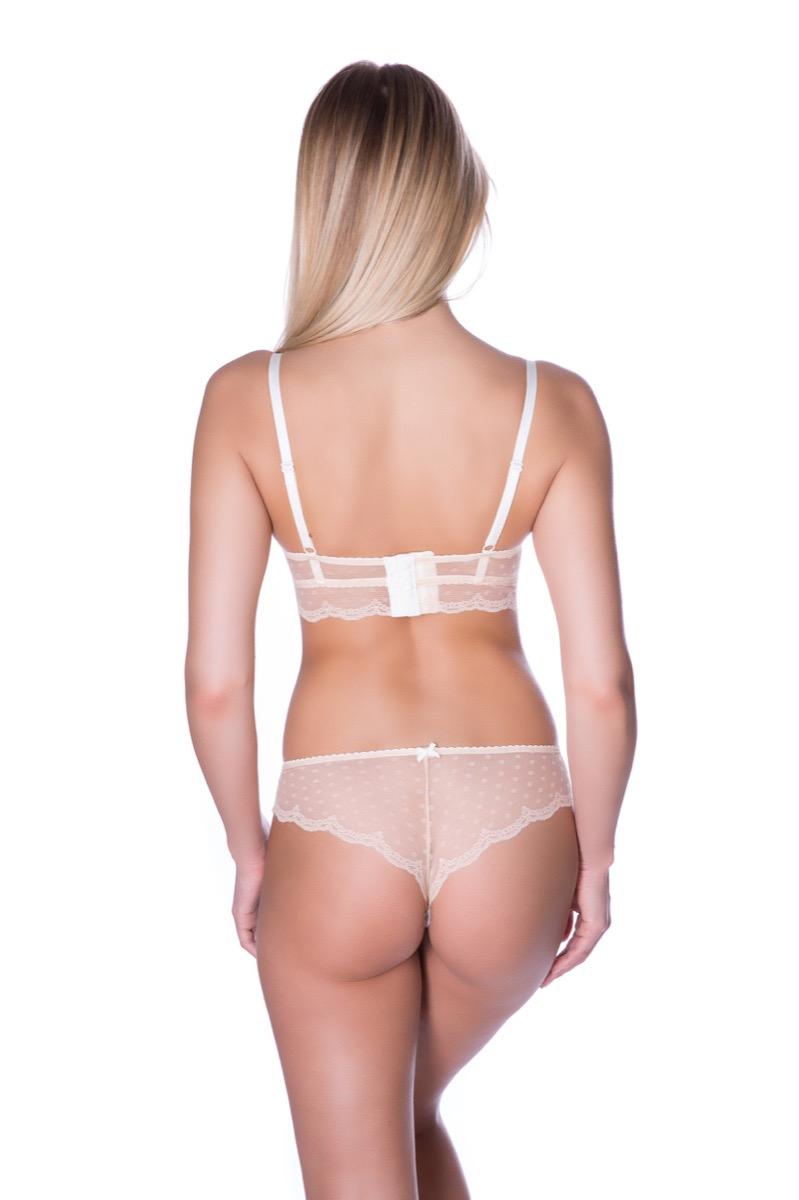 картинка Трусы женские, бразильяна, средняя посадка, бесшовные сзади трусы, ROSE&PETAL LINGERIE, BRIGITTE от магазина Одежда+