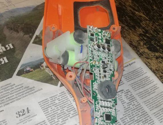 Ремонт аккумуляторного пылесоса Electrolux