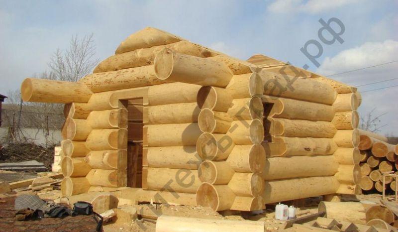Строительство деревянного бани