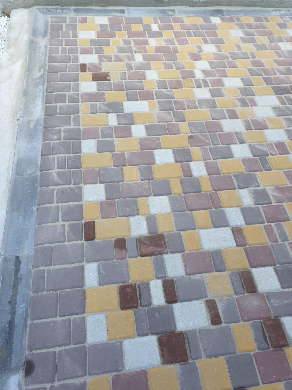 Тротуарная плитка Старый город цветная
