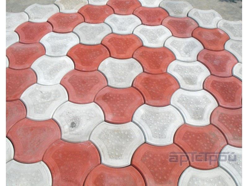 Тротуарная плитка Медуза 235х235х40 мм