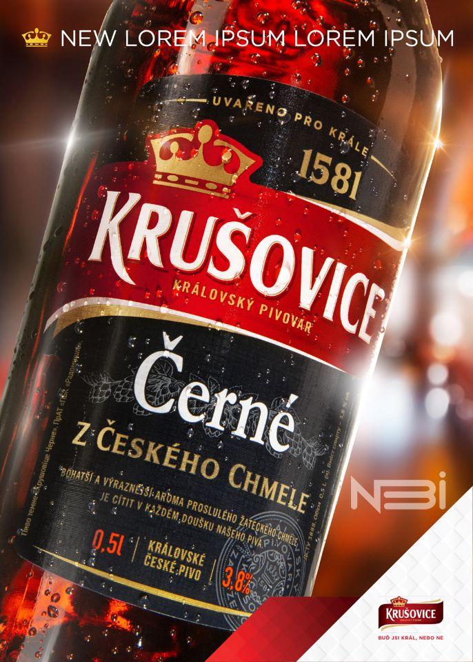 Фотография бутылки Krusovice для Key Visual