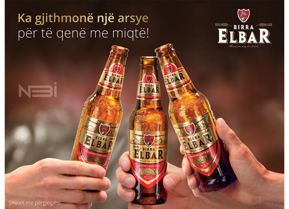 Предметная фотография пивных бутылок Birra Elbar