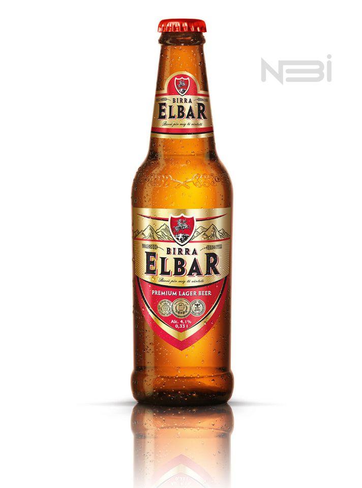 Предметная фотосъемка стеклянной бутылки Elbar Birra для Key Visual в фотостудии СПб