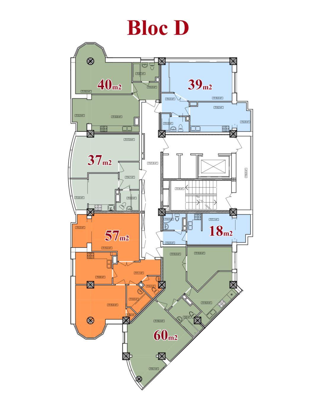 Vedere planica etaj bloc D 13 etaje