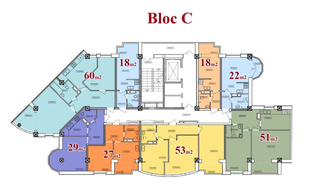 vedere planica blocul C 13 etaje