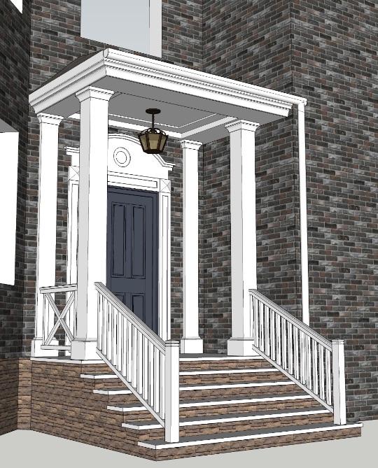 Архитектурный план по строительству крыльца