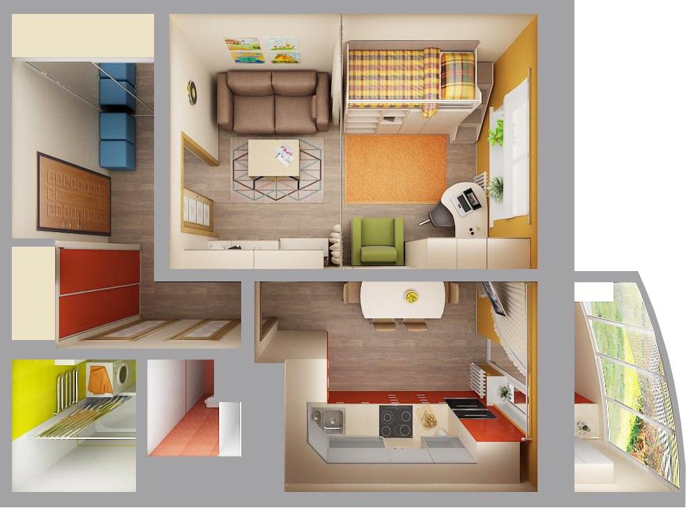 расстановка мебели в интерьере квартиры