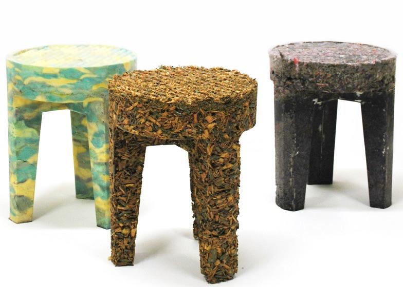 интерьер из переработанных материалов