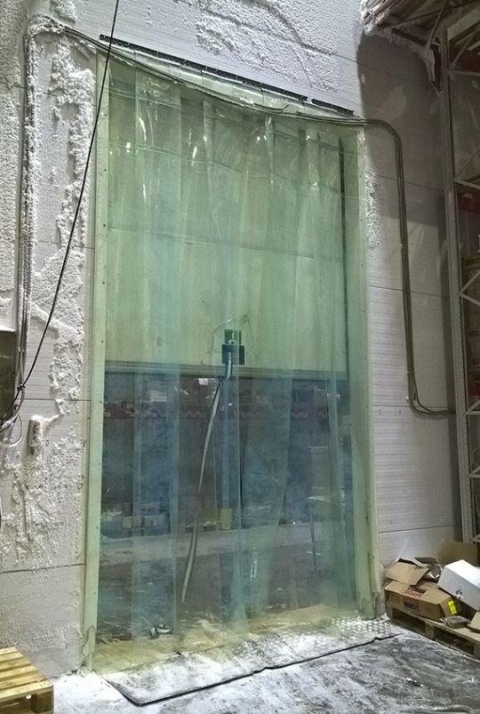 морозостойкие пвх завесы в морозильной камере