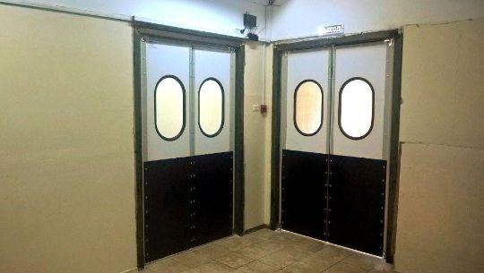 Распашные маятниковые двери из сэндвич-панелей