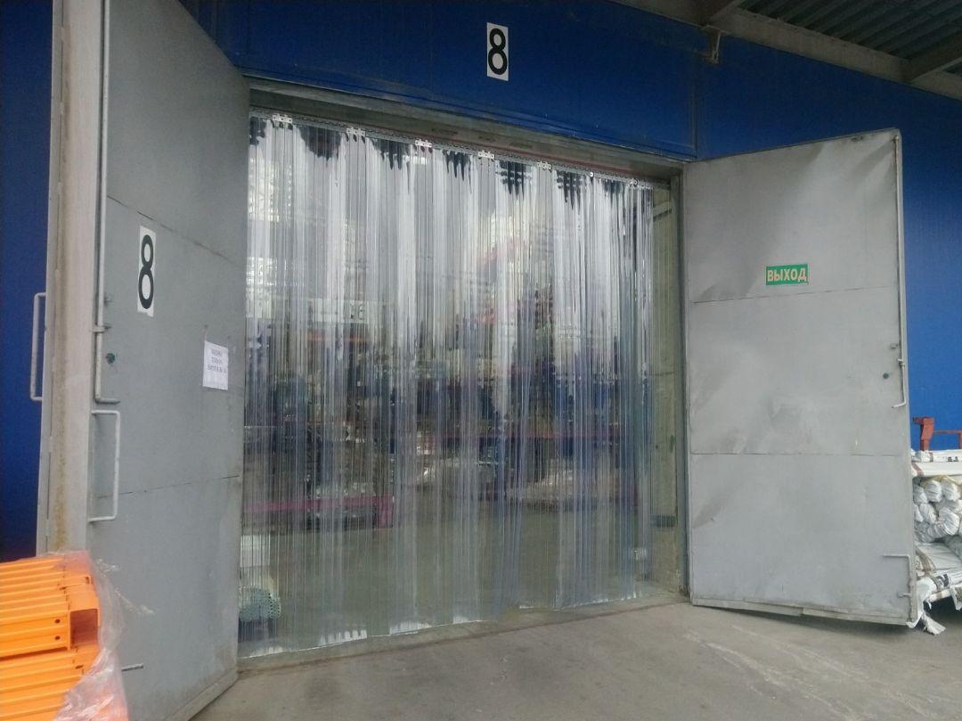 пвх завесы на распашные ворота
