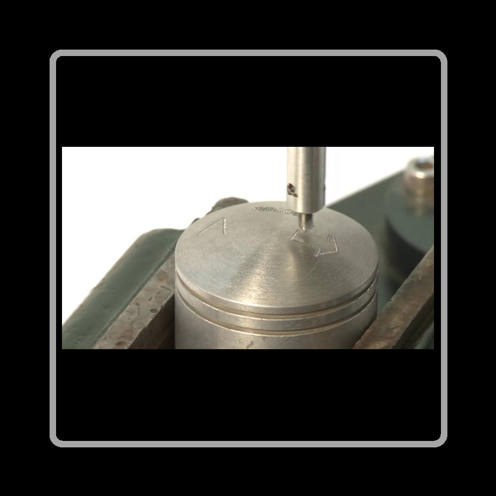 Маркировка на металле ударно-точечный маркиратор MNS-EMPC MarknStamp