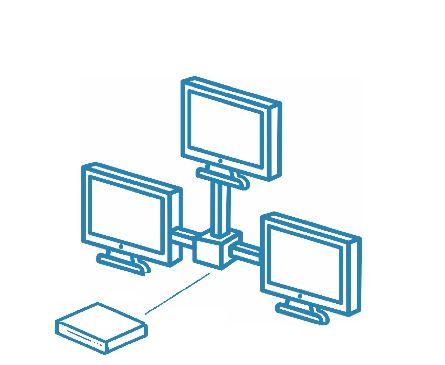 Локальная сеть/компьютерная сеть на три точки подключения