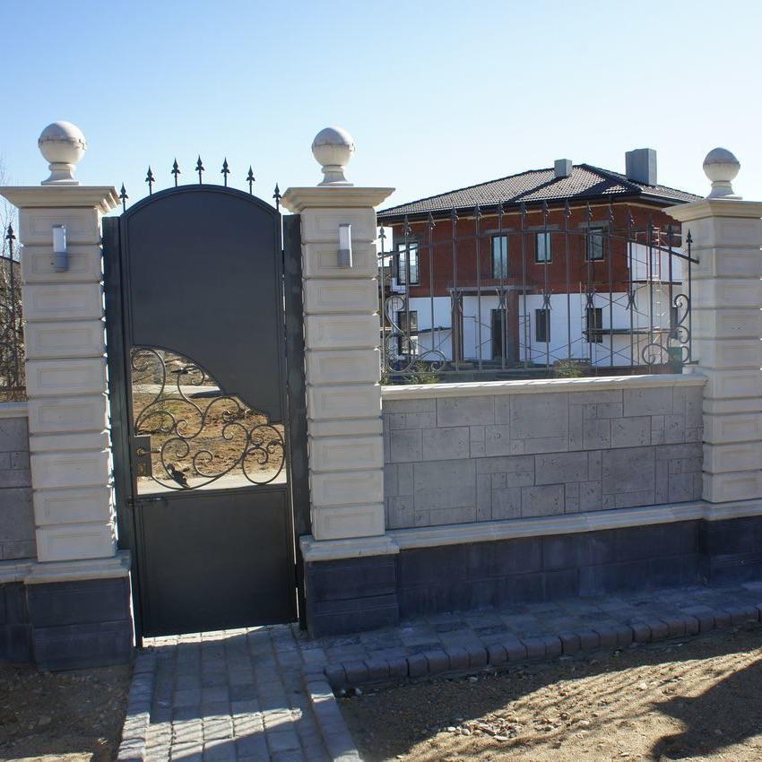 Обушково Бетонный забор Бастион