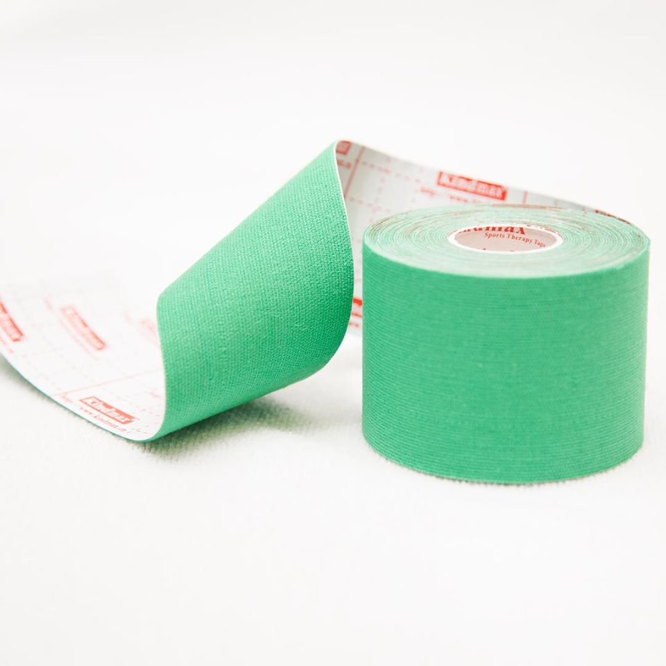 Кинезио тейп 100% хлопок Зеленый - Kindmax - K50